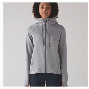 Lululemon Grey Fleece Please Hoodie